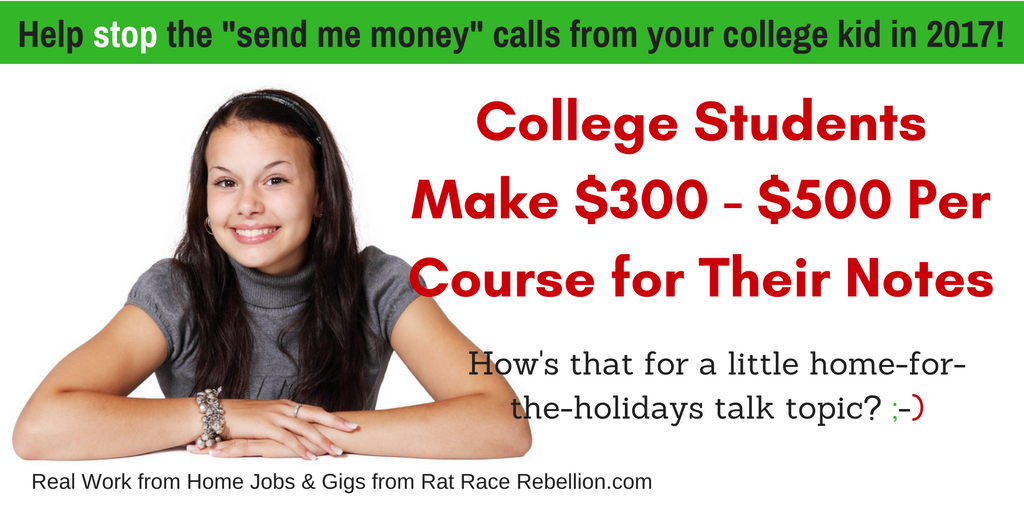 College Students - Earn $300-500 Per Course for Your Notes