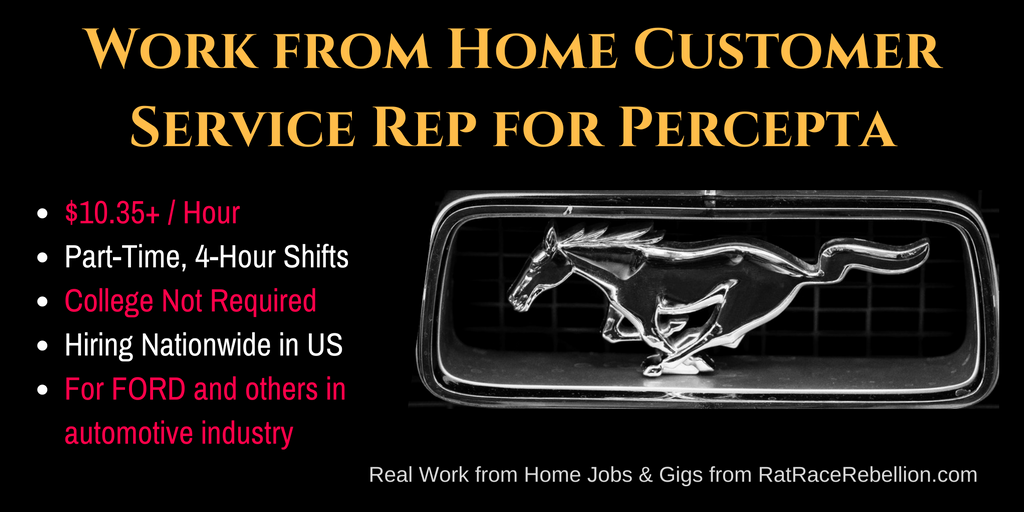 Make $10.35+/Hr as a Work from Home Customer Service Rep for Percepta