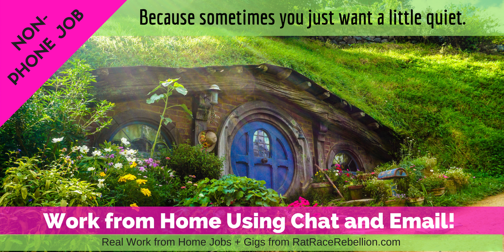 NON-PHONE JOB: Work from Home Using Chat and Email!
