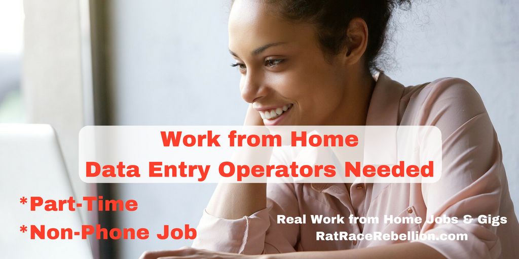Work From Home Data Entry Operators Needed Real Work