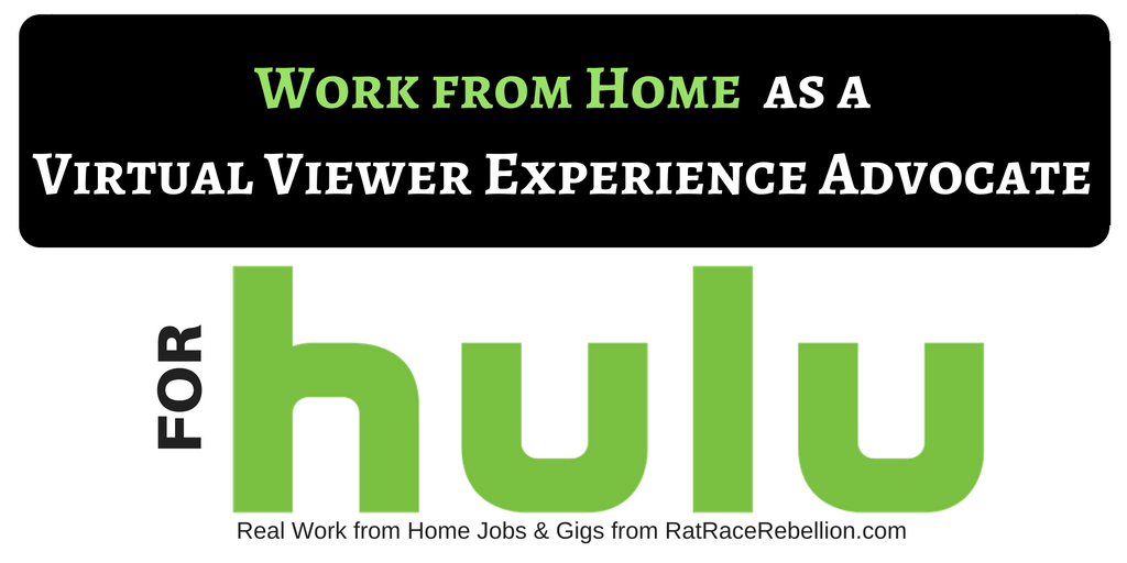 Work from Home for Hulu