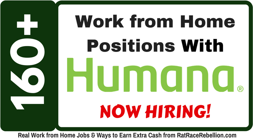160+ Work from Home Jobs with Humana, plus BENEFITS!