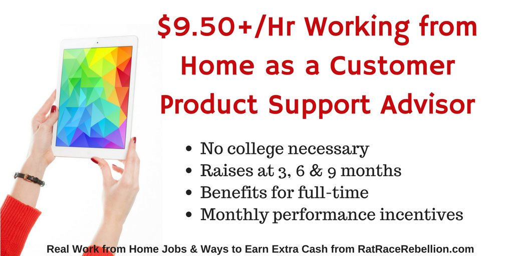 $9.50+_Hr Working from Home as a Customer Product Support Advisor