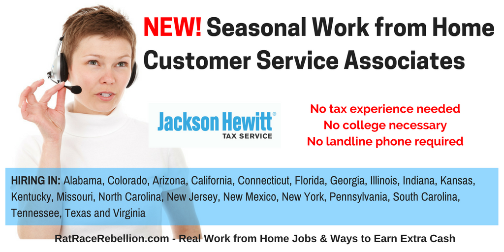 Seasonal Work From Home Customer Service Ociate Jackson Hewitt