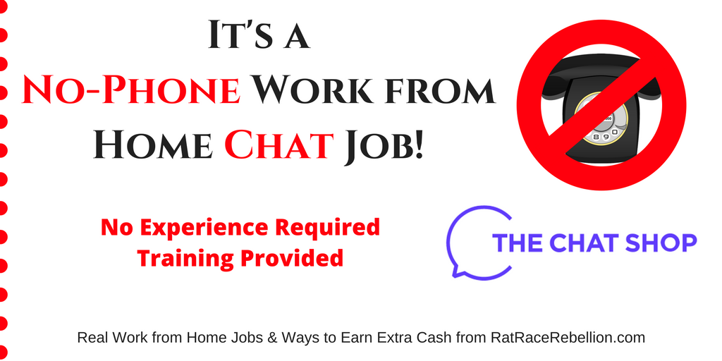 Work from Home for The Chat Shop