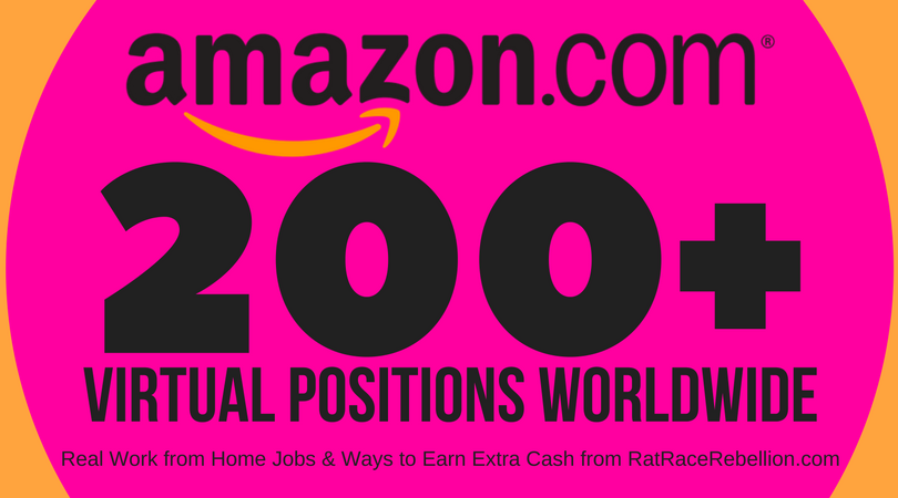"Amazon Hiring Right Now for 200+ ""Virtual"" Jobs – Worldwide"