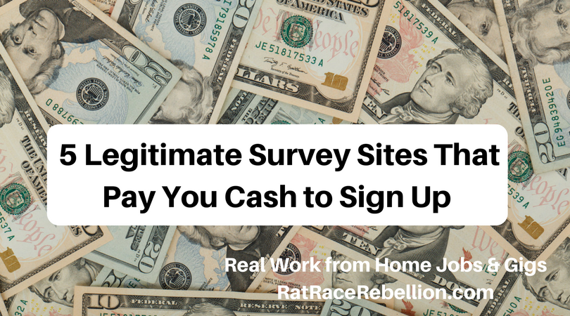 These 5 Survey Sites Pay You Cash Just to Sign Up - Work From Home