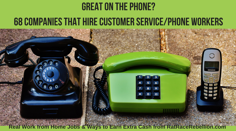 68 Companies That Hire Customer Service/Phone Workers