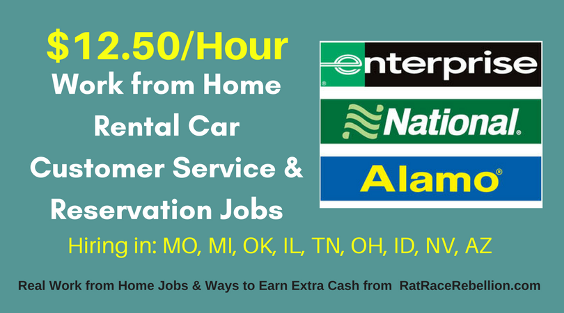 Hiring in 9 States – $12.50+/Hour – Work from Home for Alamo, Enterprise and National Rental Car