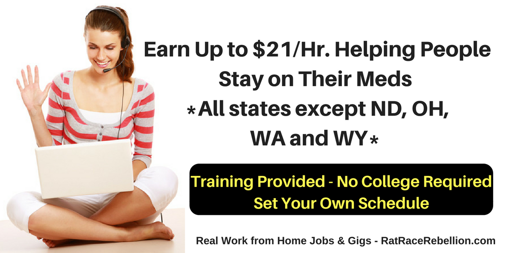 Earn Up to $21/Hr  from Home, Helping People Stay on Their