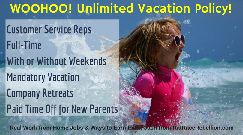 Work from Home Customer Champions - Paid Vacations and More!