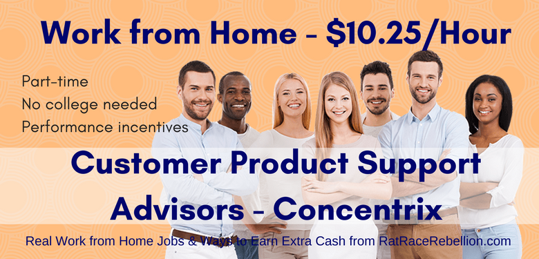 Work from Home Customer Product Support Advisor - Concentrix, $10.25/Hr
