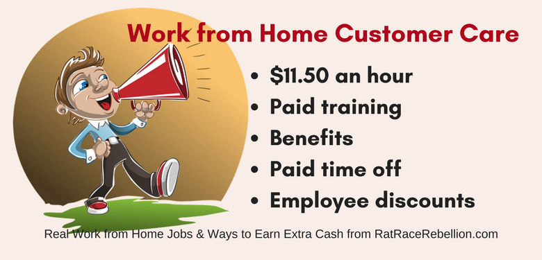 Work from Home Inbound Customer Care - $11.50, plus Benefits