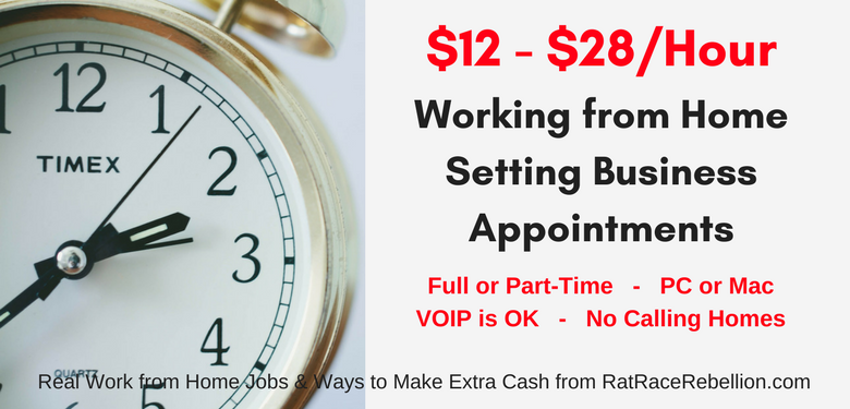 $12 - $28/Hour Appointment Setting from Home