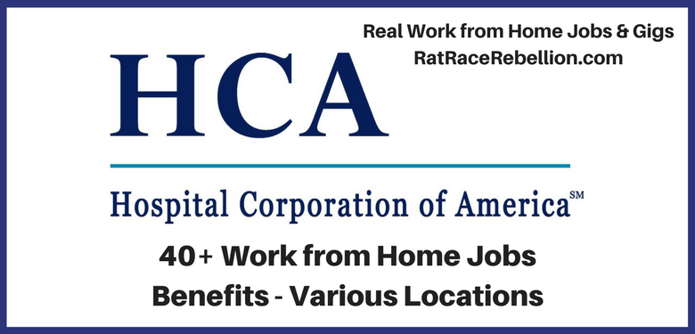 work from home jobs with health benefits 40 work from home jobs at hospital corp of america 4320