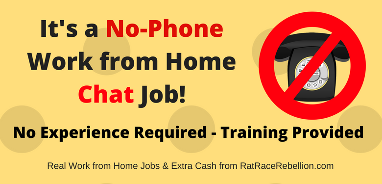 No-Phone Work from Home Chat Job - Work from Anywhere