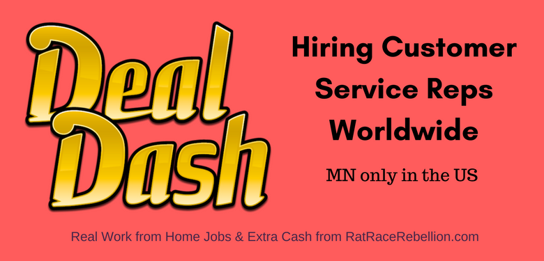 DealDash Now Hiring Customer Service Specialists - Worldwide