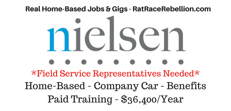 work from home jobs with paid training home based jobs with nielsen 36 400 yr company car 889