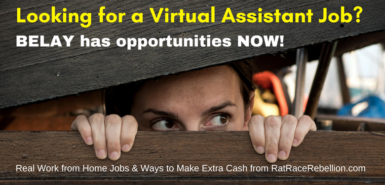 Work from Home as a Virtual Assistant for BELAY