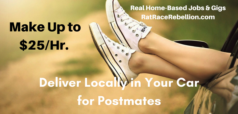 make up to  25  hr  delivering in your car for postmates