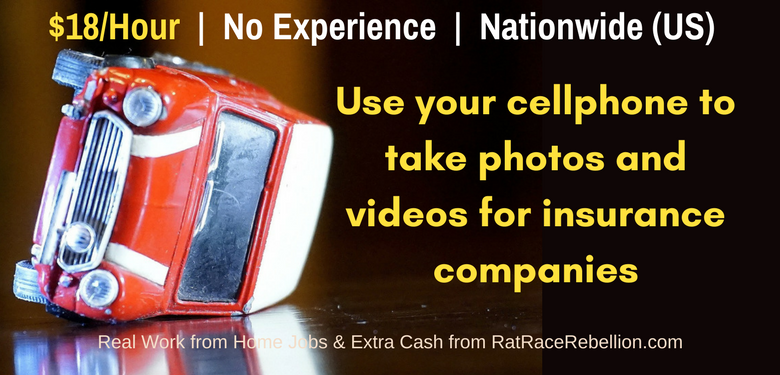 $18+/Hour Helping Insurance Companies Gather Photos & Videos With Your Cell Phone