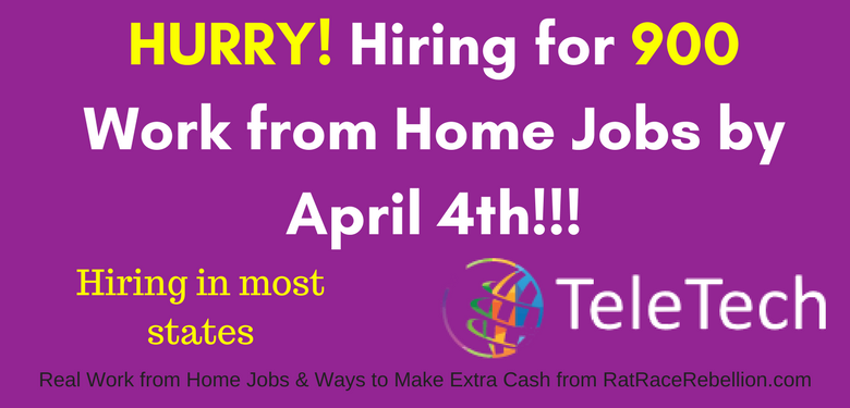 TeleTech Hiring for 900 Work from Home Jobs by April 4th!!!