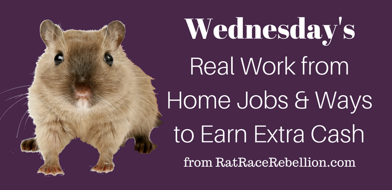 Wednesday's Work from Home Jobs