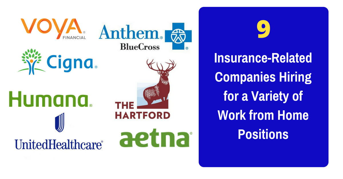 9 Insurance-Related Companies With Work from Home Positions