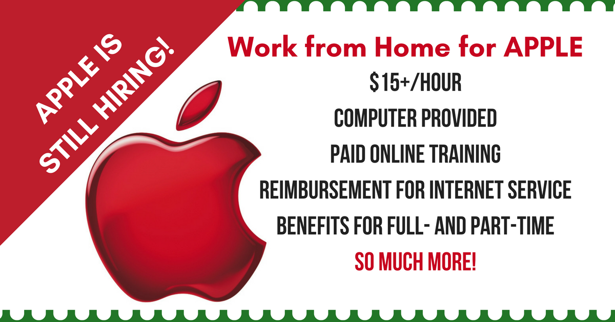 Apple At Home Advisor Archives Work From Home Jobs By Rat Race