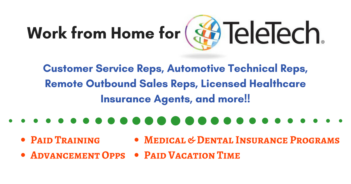 Amazing Work From Home For TeleTech U2013 Hiring Now For A Variety Of Positions