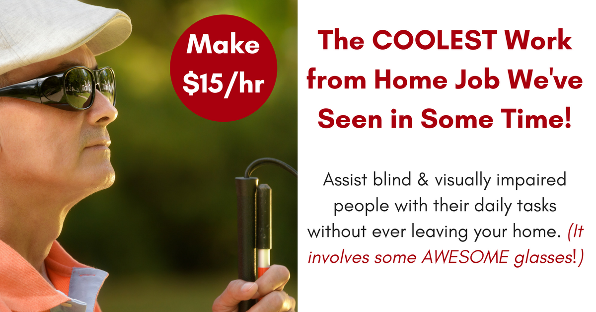 15hr helping blind visually impaired people with daily tasks without leaving your home