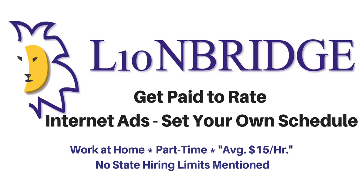 Lionbridge Seeks P/T Work from Home Internet Ads Raters