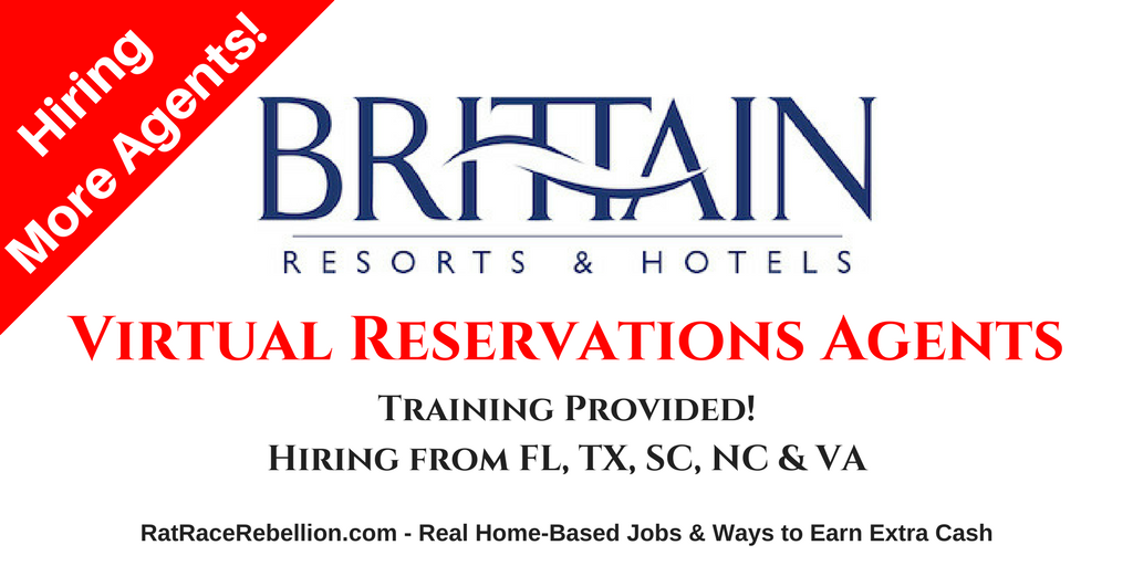 Brittain Resorts Hotels Hiring More Virtual Reservations Agents