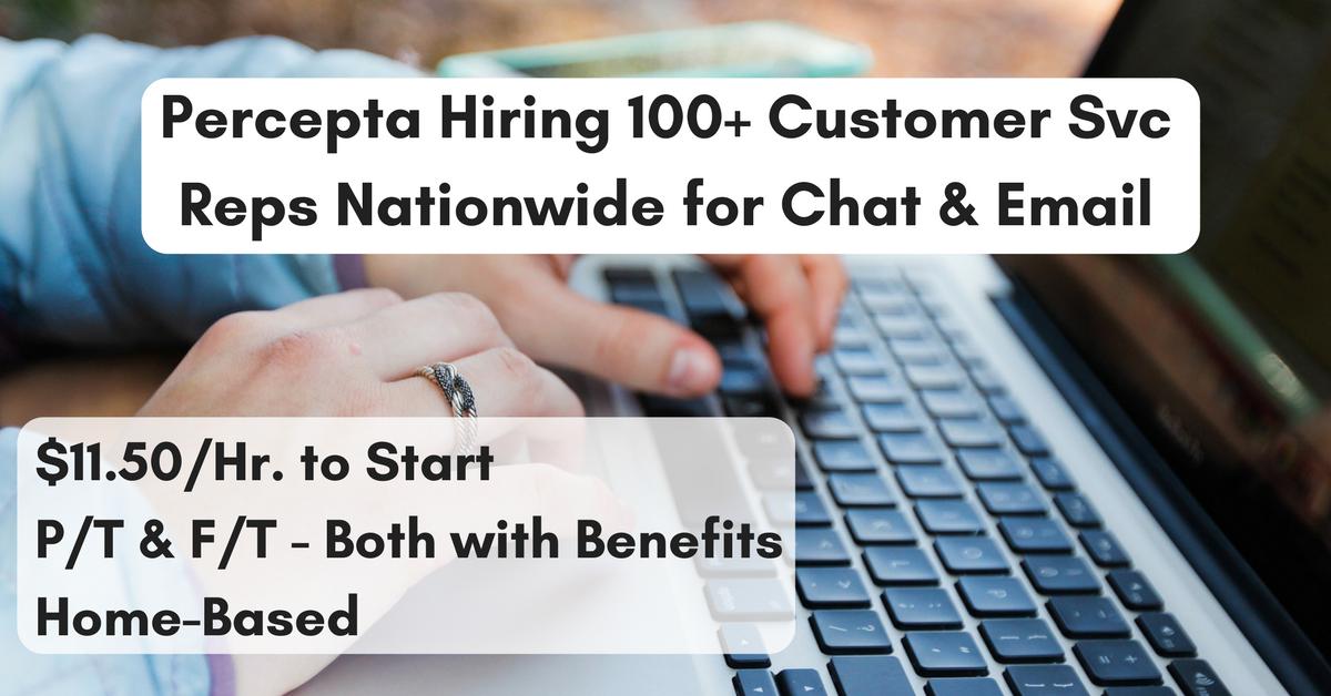 Nationwide Customer Service >> Percepta Hiring 100 Work From Home Customer Service Agents