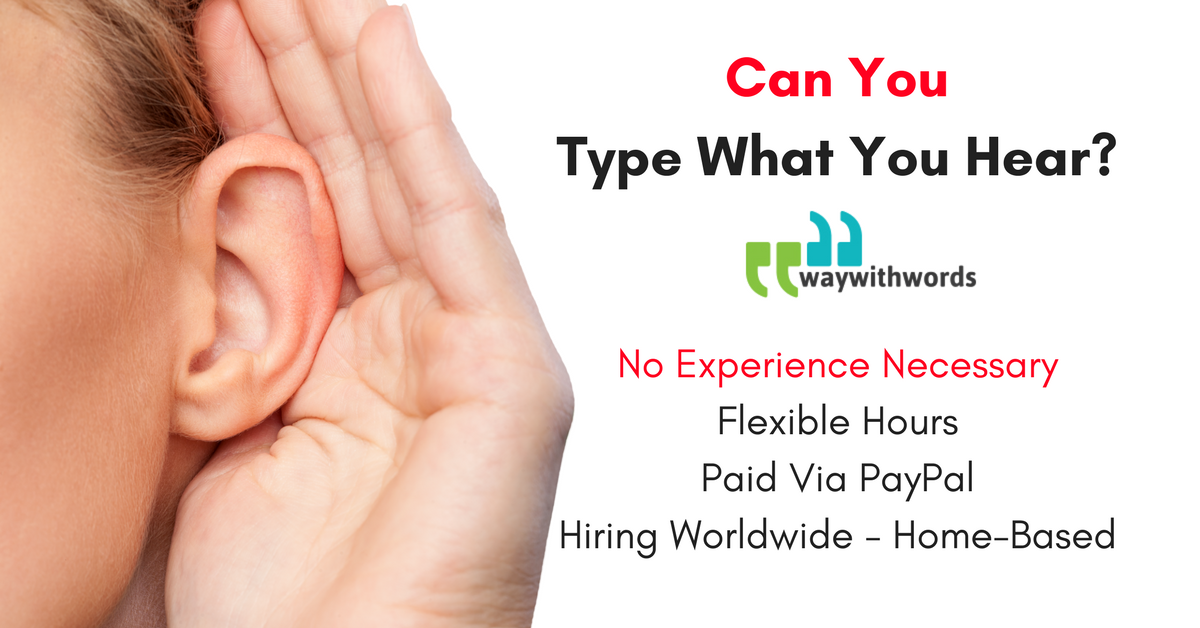 Work from Home Typing What You Hear - No Experience Necessary ...