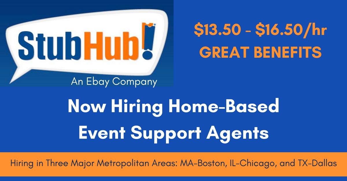 Hr Jobs In Dallas >> Stubhub Hiring Event Support Agents In Boston Chicago Dallas
