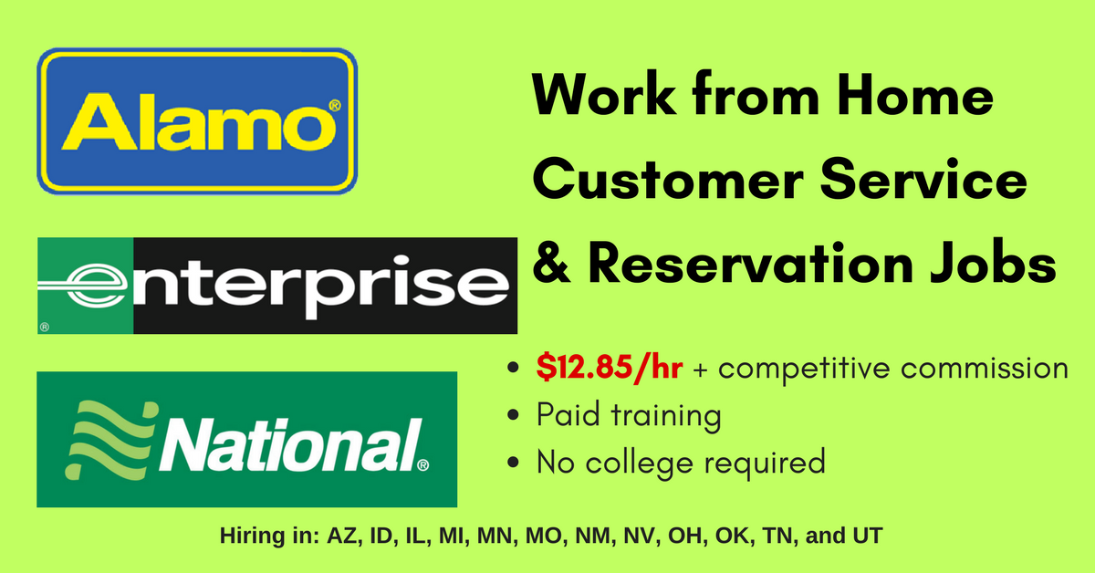 alamo work from home make 12 85 hr working for alamo enterprise and national 3414