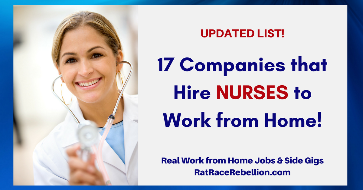 17 Companies That Hire Nurses To Work From Home Work From Home