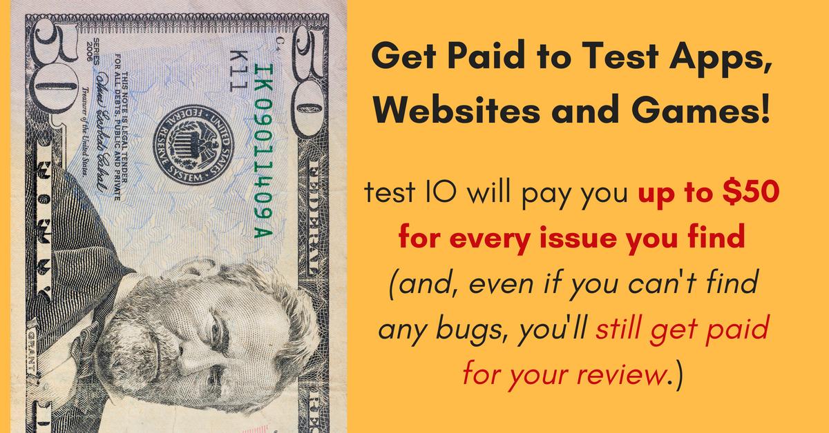 Test websites for money