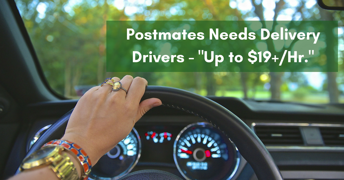 Make Up to $19+/Hr  Delivering in Your Car for Postmates