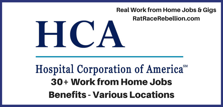 30 Work From Home Jobs At Hospital Corp Of America