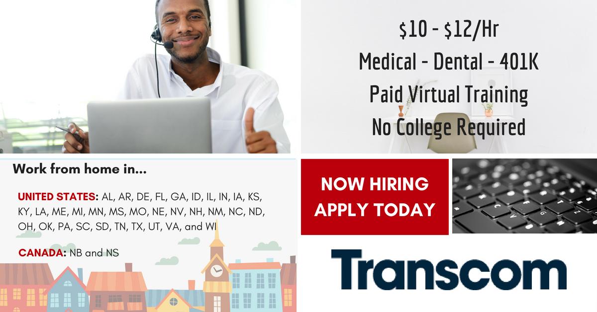 Transcom is Hiring - Benefits, Paid Virtual Training & More