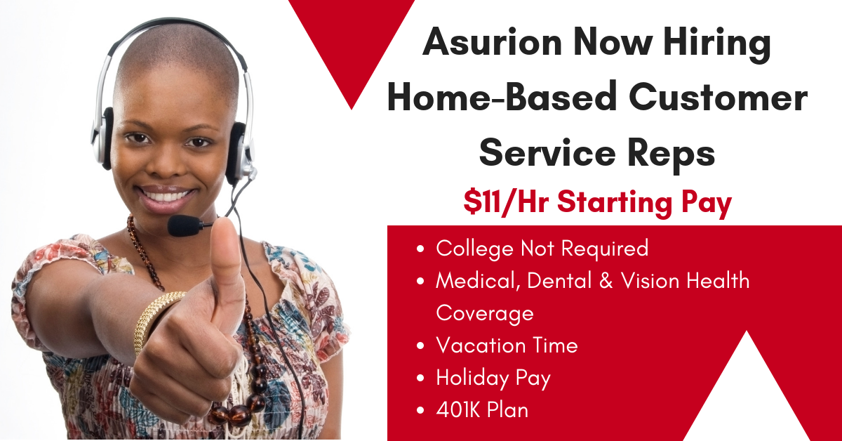 asurion work from home pay asurion now hiring home based customer service reps 11 9776