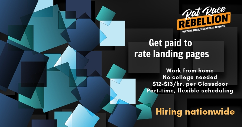 Work from Home Part-Time - Get Paid to Rate Landing Pages