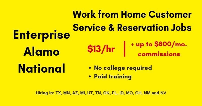 alamo work from home work from home for alamo enterprise national rental car 3380