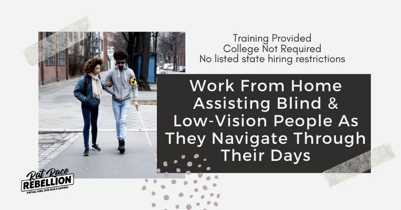 Work From Home Assisting Blind and Low-Vision People