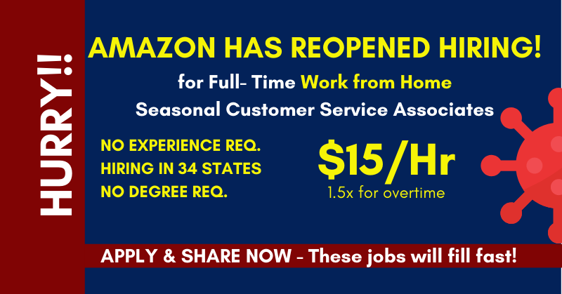work from home for Amazon