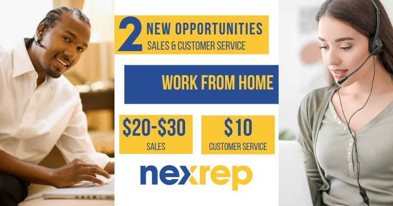 Make Up To 30 With Nexrep Two New Opportunities Work From Home Jobs By Rat Race Rebellion
