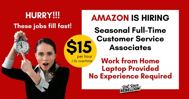 Reopened Amazon Is Hiring Work From Home Customer Service Associates 15 34 States Work From Home Jobs By Rat Race Rebellion