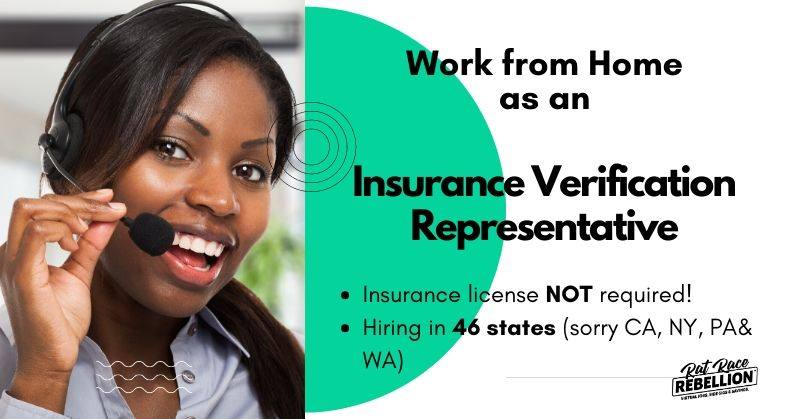 Work From Home As An Insurance Verification Representative Work
